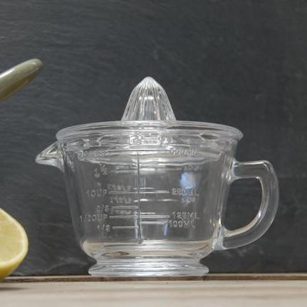 Glass Citrus Juicer and Measuring Cup