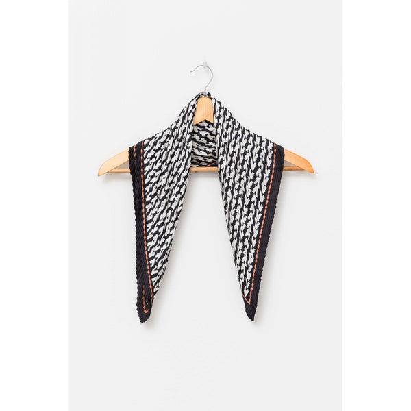 Square Scarf - Black Chevron Pleated Womens Accessories Default Title Stella & Gemma