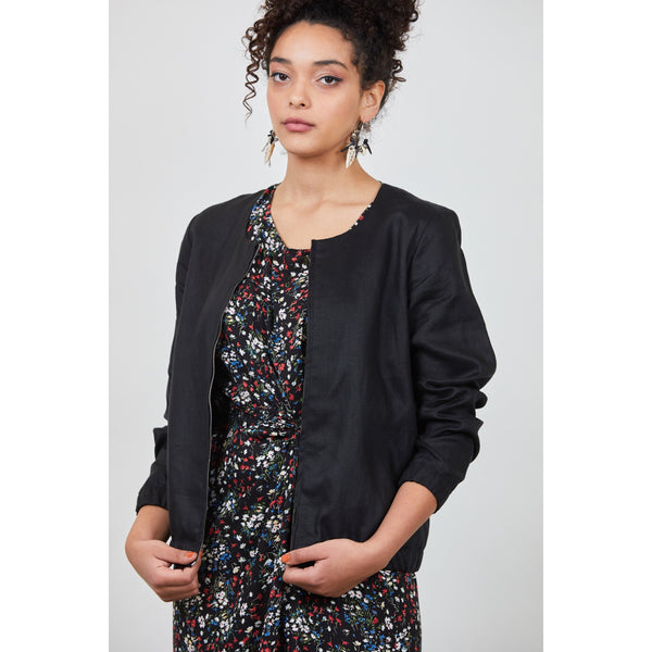 Stella Jacket - Black Womens Clothing 8,10,12,14 Dalston