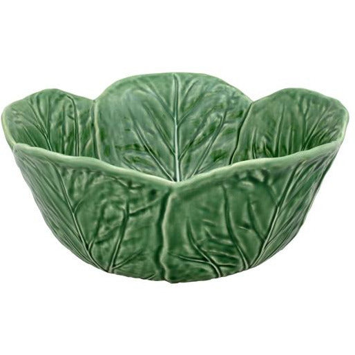 Cabbage Tall Salad Bowl - Natural Serveware Default Title Bordallo Pinheiro