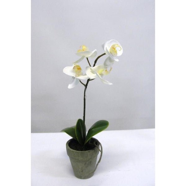 Potted Faux Phalaenopsis Orchid Decorate Default Title Flower Systems