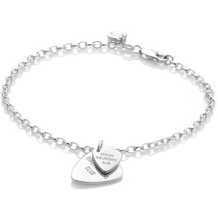 Guitar Pic Bracelet - Silver Bracelets + Bangles Default Title Stolen Girlfriends Club