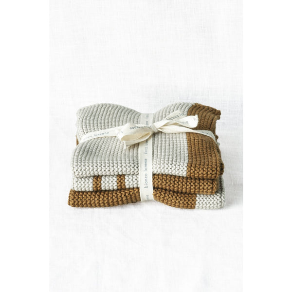 Pannello Bronze Washcloths - Set of 3 Teatowels + Cloths Default Title Bianca Lorenne