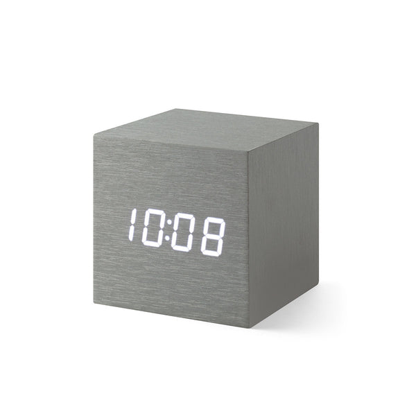 Cube Clock - 2 Colours Clocks Alume Moma