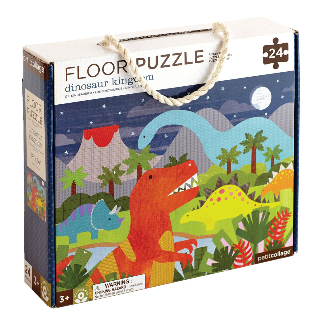 Dinosaur Kingdom Floor Puzzle Play Default Title Petit Collage
