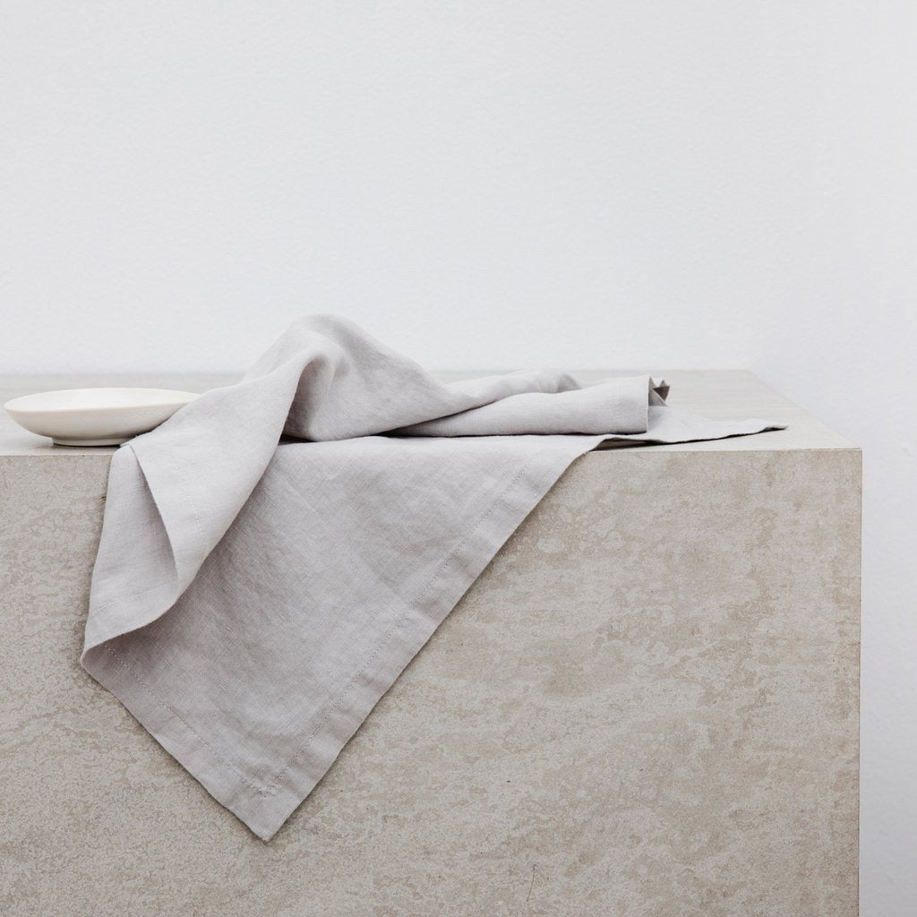 Smoke Grey Linen Napkins (set of 4)