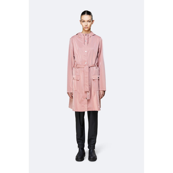 Rains Curve Jacket - Blush Womens Clothing XXS/XS,XS/S,S/M,M/L,L/XL Rains