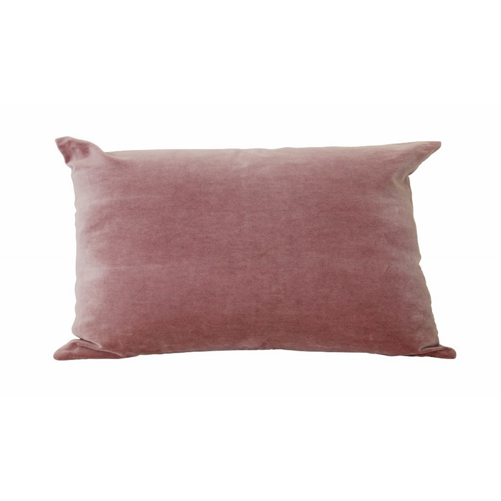 Dusky Pink Velvet Cushion Cover with Linen Back Cushions Default Title CC Interiors