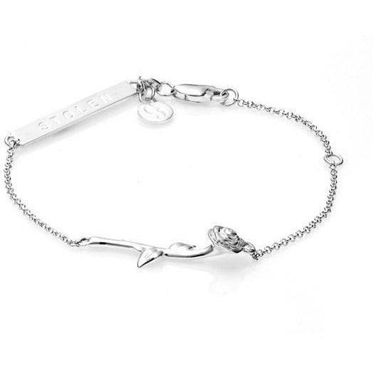Rose Bar Bracelet - Silver Bracelets + Bangles Default Title Stolen Girlfriends Club