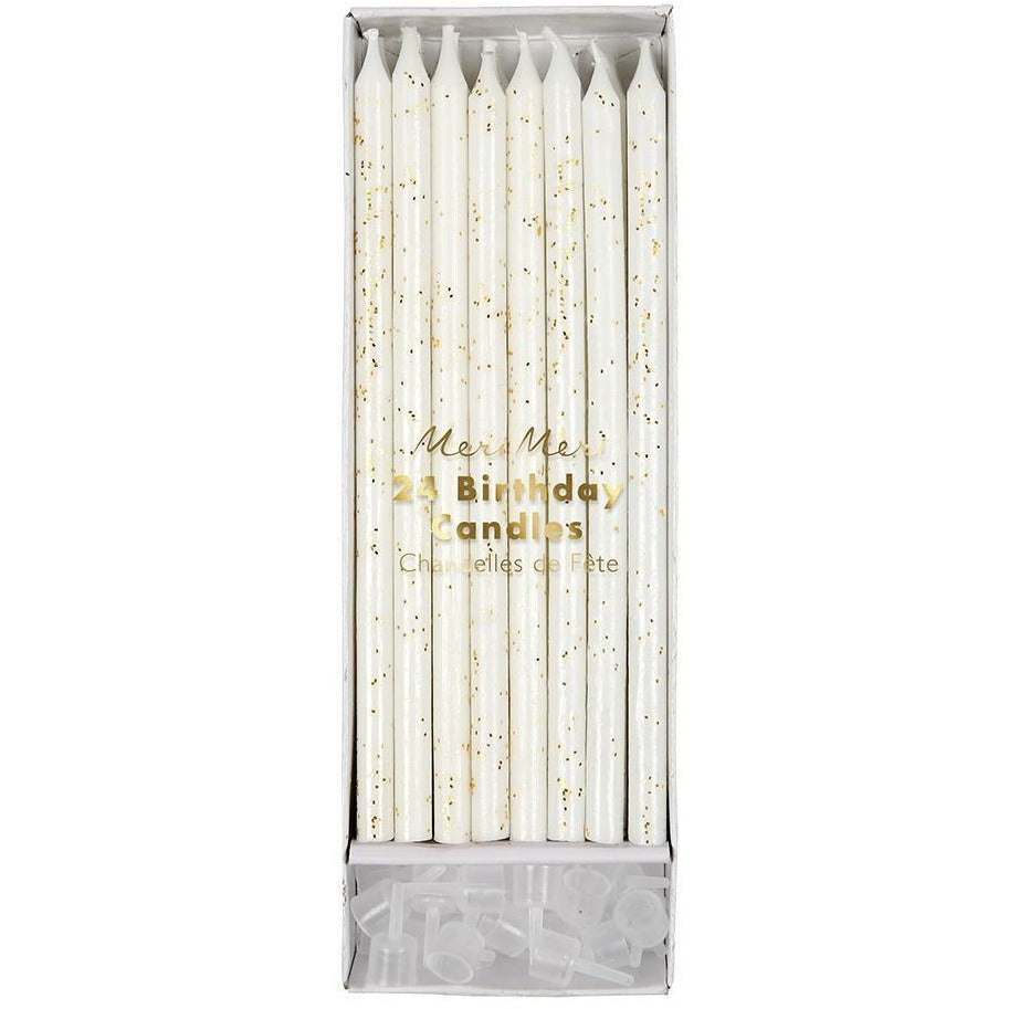 Gold Glitter Birthday Candles