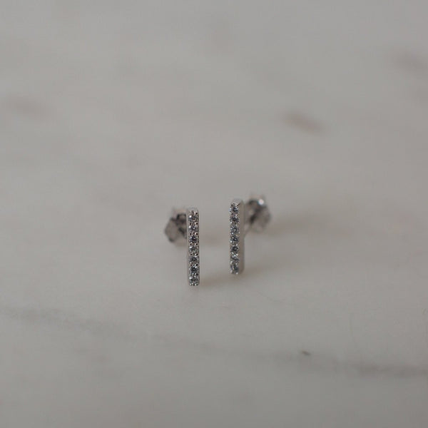 Sophie Sparkle Bar Stud Earrings