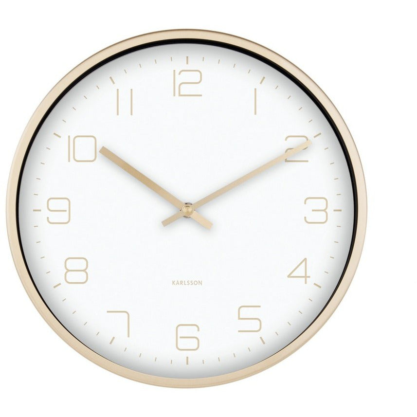 Gold Elegance Wall Clock Clocks Default Title Karlsson