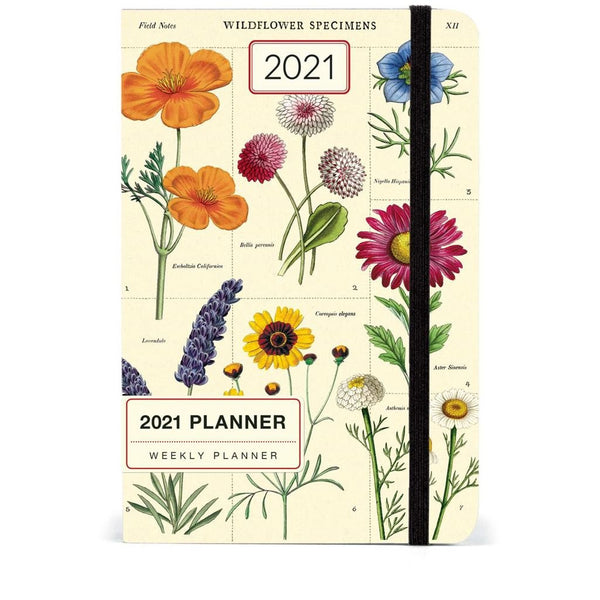 Wildflowers 2021 Year Planner Calendars + Diaries Default Title Cavallini & Co