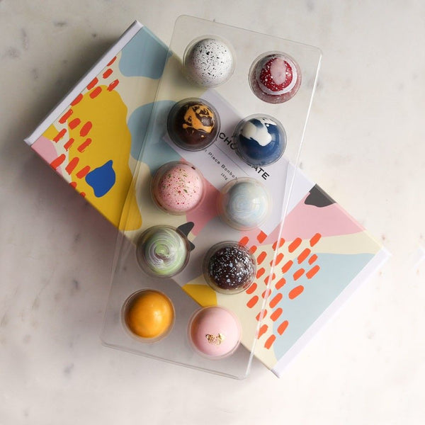 House of Chocolate Bonbon Box - 10 piece, NZ Hand made chocolates
