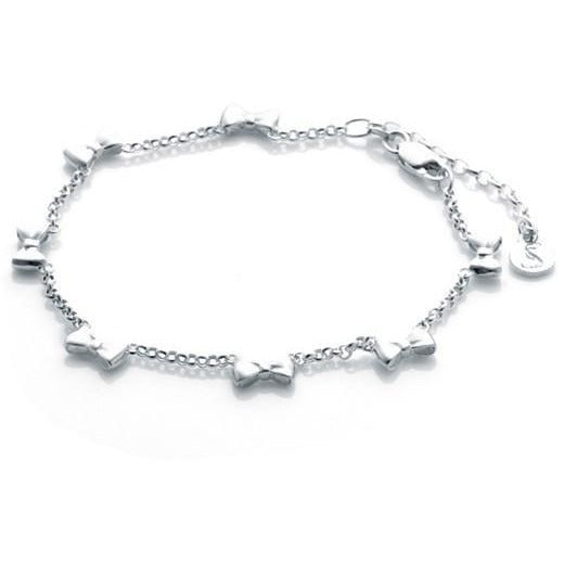 Baby Bow Bracelet - Silver Bracelets + Bangles Default Title Stolen Girlfriends Club