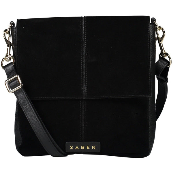 Black Suede Harland Bag