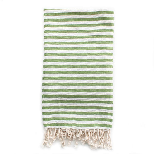St Tropez Turkish Towel - Olive Beach + Boat + BBQ Default Title Izzy And Jean