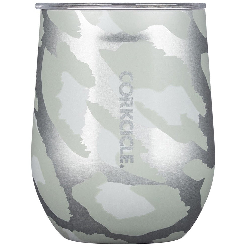 Exotic Stemless 355ml - Snow Leopard Insulated Stainless Steel Cup Beach + Boat + BBQ Default Title Corkcicle