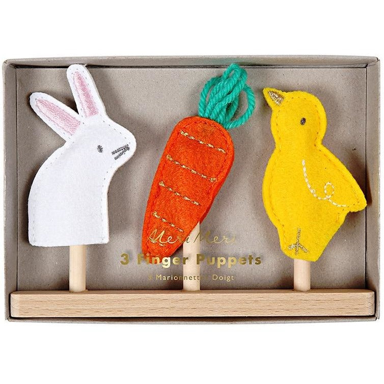 Meri Meri Chick, Carrot and Bunny Finger Puppets