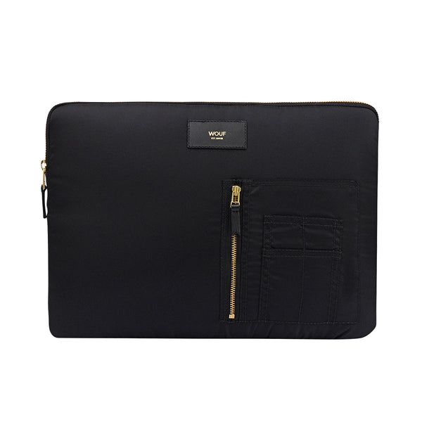 Wouf Laptop Sleeve Bomber Black, Laptop Sleeve, Until NZ