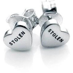 Stolen Heart Earrings - Silver Earrings Default Title Stolen Girlfriends Club