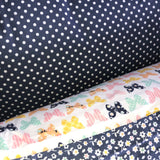 Blue with White Dots Cotton Pillowcase