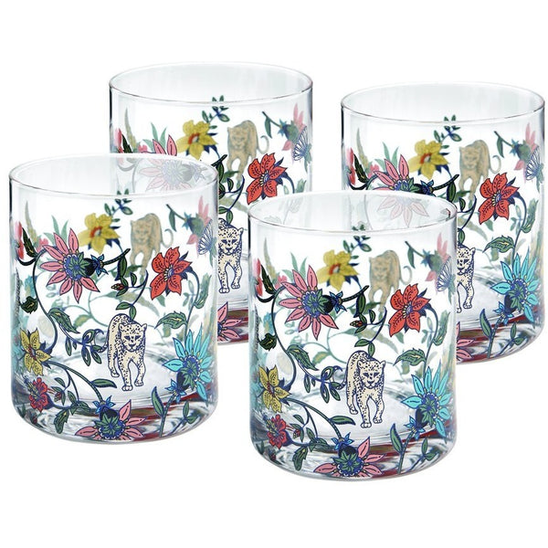 Botswana Botanical Glass Set of 4