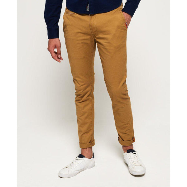 Superdry International Slim Chino Pant Bronze Khaki