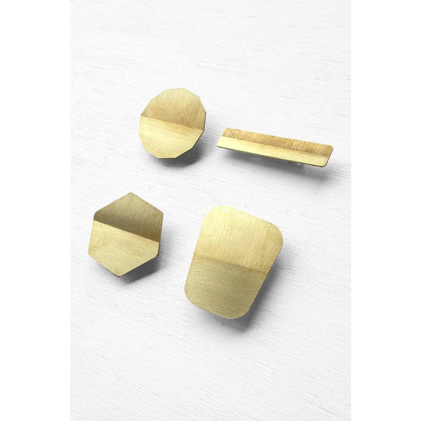 Skimming Stones Solid Brass Horizon Brooch