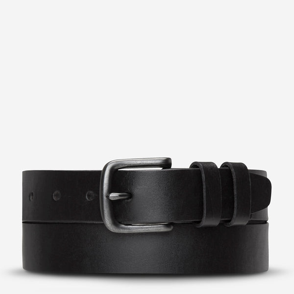 Status Anxiety Citizen Belt, Mens Black Leather Belt, Status Anxiety NZ Stockist
