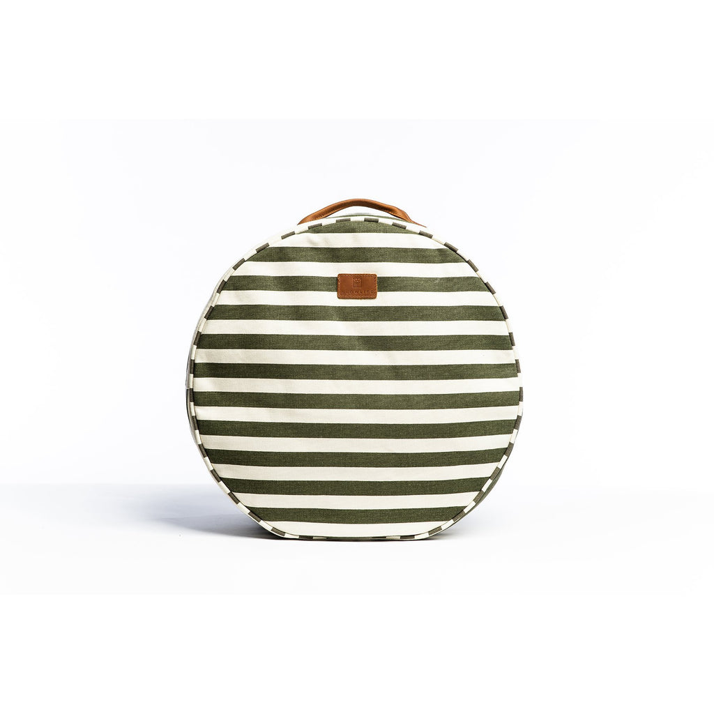 Picnic Cushion - Olive Stripe Beach + Boat + BBQ Default Title Slowlife Collection