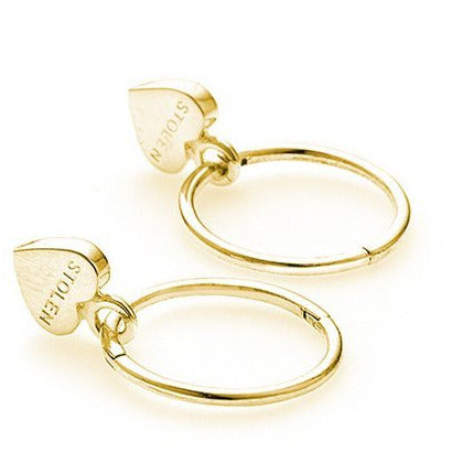 Stolen Heart Sleeper Earrings - Gold Earrings Default Title Stolen Girlfriends Club