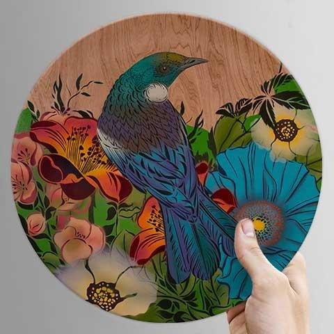 Bamboo Plate with Flox Design