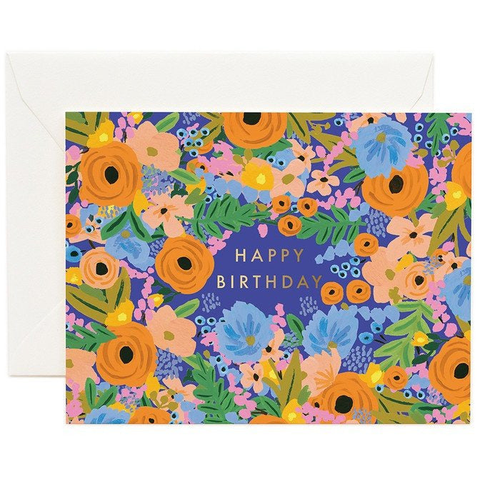 Rifle Paper Cards, Rifle Paper NZ Retailer, Reseller, Floral Birthday Card