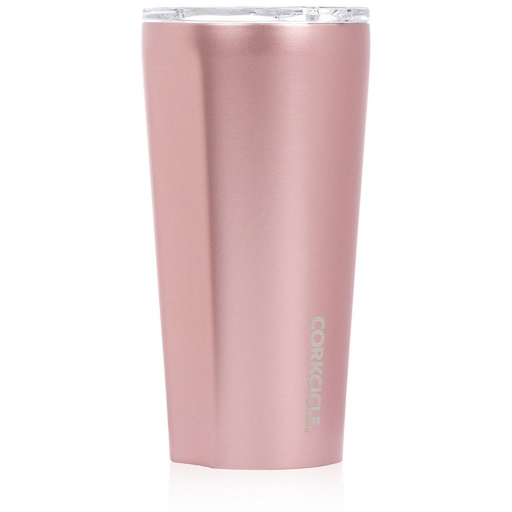 Metallic Tumbler 475ml - Rose Metallic Insulated Stainless Steel Cup Tea + Coffee Default Title Corkcicle