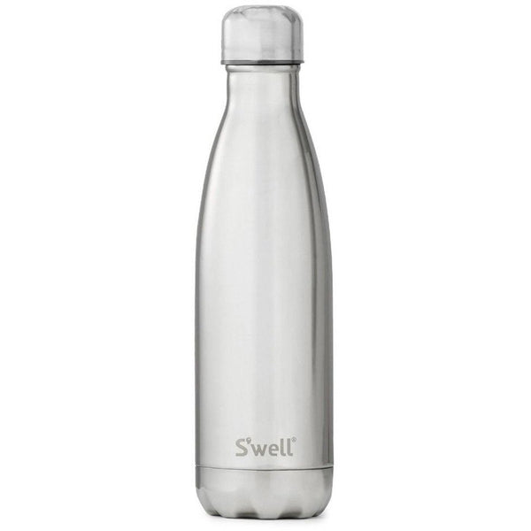 Insulated Bottle - White Gold Water Bottles Default Title S'Well