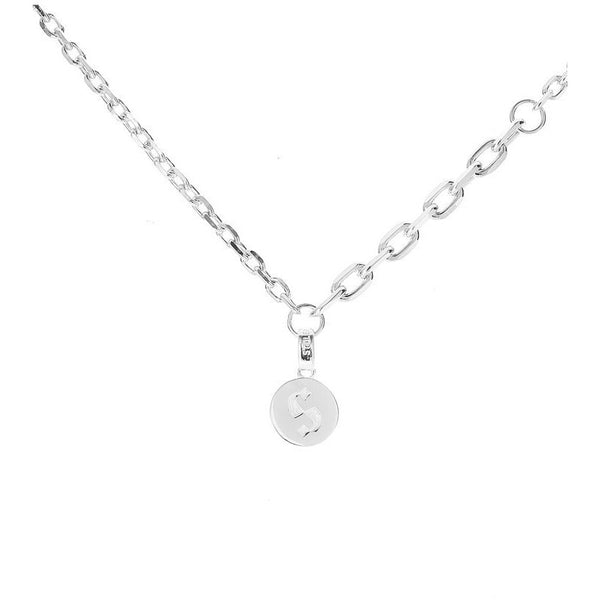 S Logo Chain Necklace - Silver Necklaces + Pendants Default Title Stolen Girlfriends Club