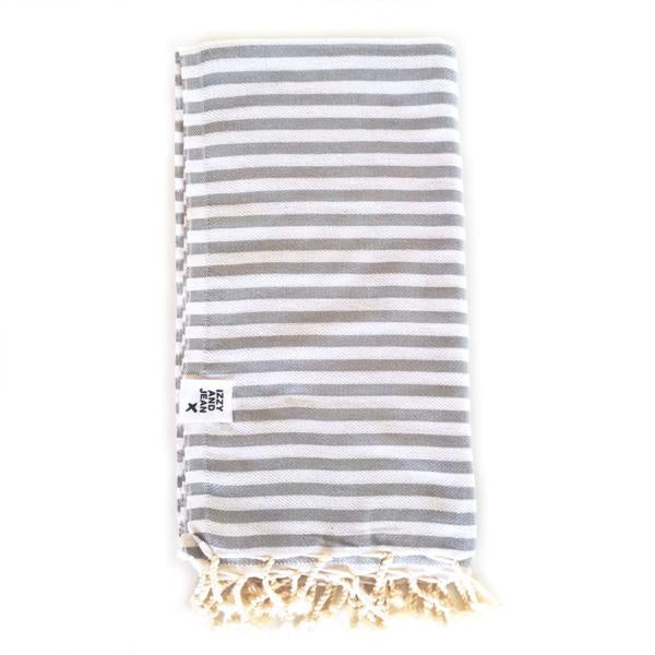 St Tropez Turkish Towel - Grey Beach + Boat + BBQ Default Title Izzy And Jean