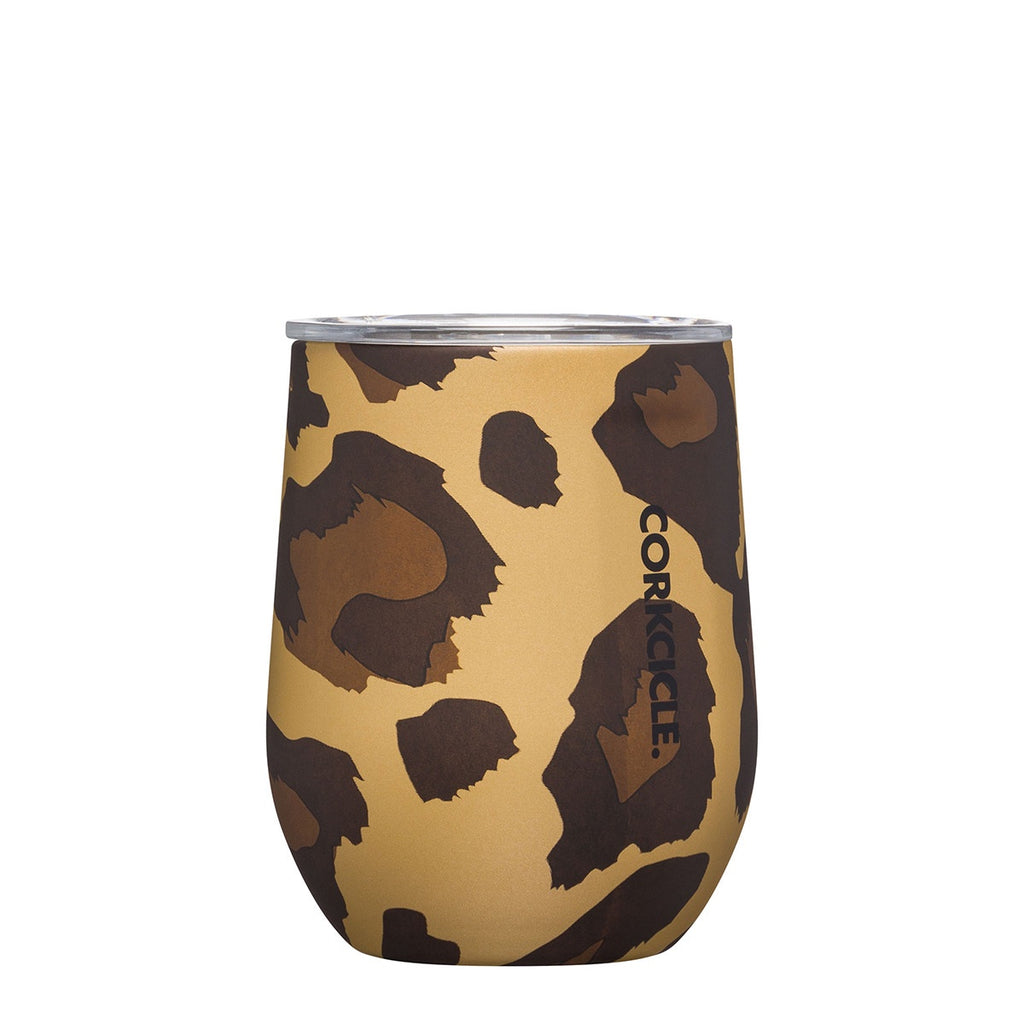 Luxe Stemless 355ml - Leopard Insulated Stainless Steel Cup Tea + Coffee Default Title Corkcicle