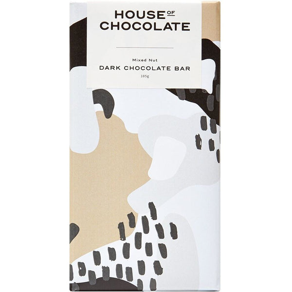 House of Chocolate Mixed Nut Dark Chocolate Bar, NZ mAde Chocolate Bar, New Zealand made, Hand made Chocolate