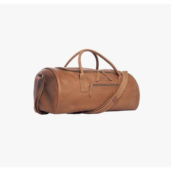 Duffle & Co Greenslade Tan Leather Duffle Overnight Bag