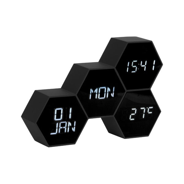 Karlsson Six In The Mix Alarm Clock Black