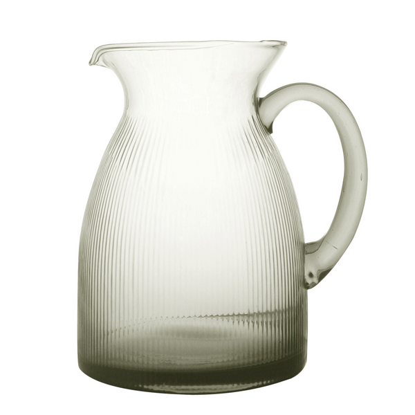CC Interiors Noire Glass Jug, CC Interiors Stockist, Smoked Glass Jug