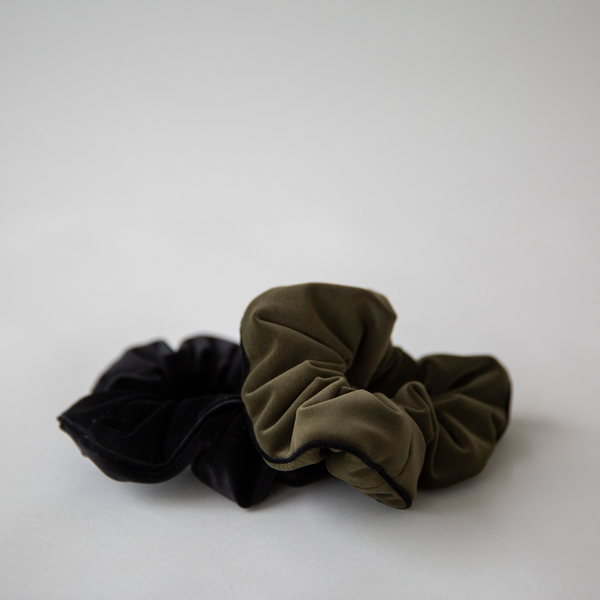 So Scrunchie Velvet - 2 Colours Womens Accessories Black,Khaki S O P H IE