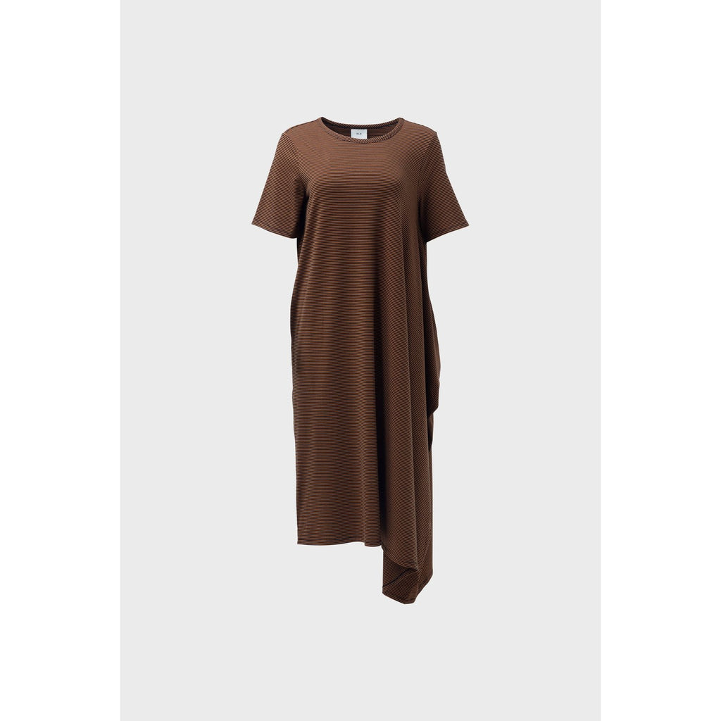 Elk Clothing Halina Dress Copper and Blue, Elk NZ Stockist