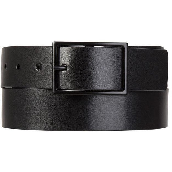 Status Anxiety Mens Leather Belt Natural Corruption Black