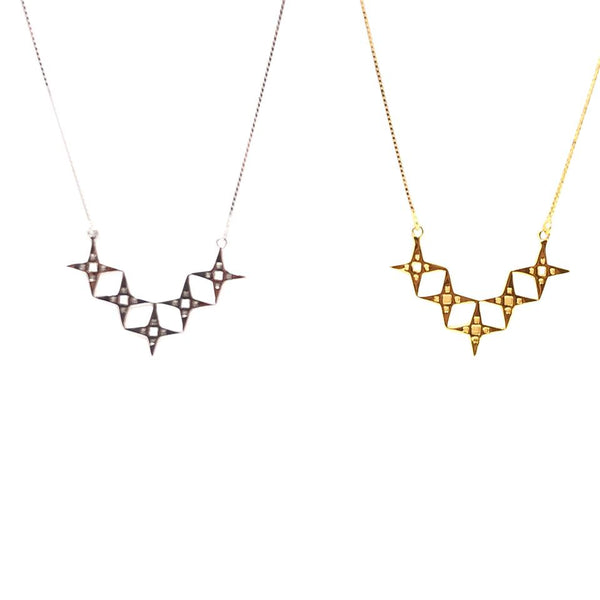 Lindi Kingi, Lindi Kingi Stockist, Lindi Kingi Alignment Necklace Platinum or Gold