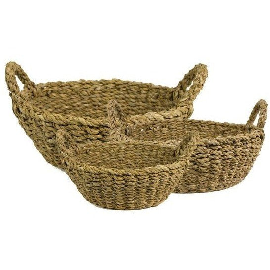 Briar Seagrass Bread Basket with Handle
