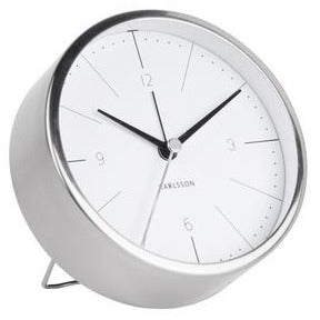 Karlsson Alarm Clock Normann White