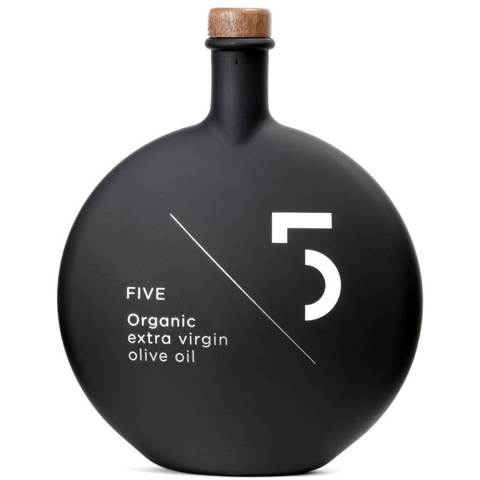 Five Organic Extra Virgin Olive Oil (black bottle)